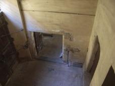 L'entrée de la Tourasse, vue de l'escalier.