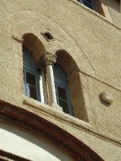 Une fenêtre vue de l'extérieur.