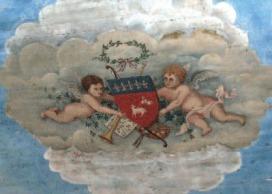 Peinture au plafond (détail)