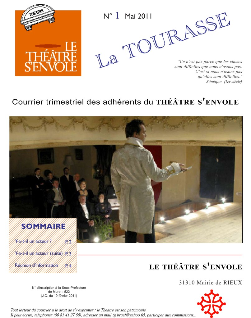 Courrier n°1 Page 1