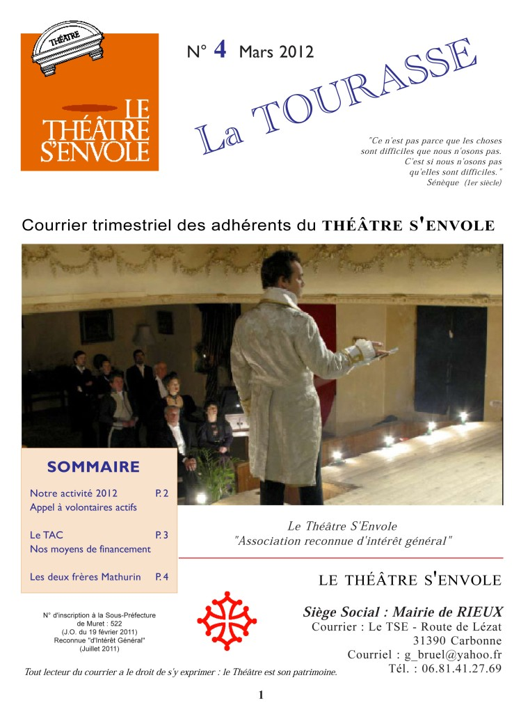 Courrier n°4 Page 1