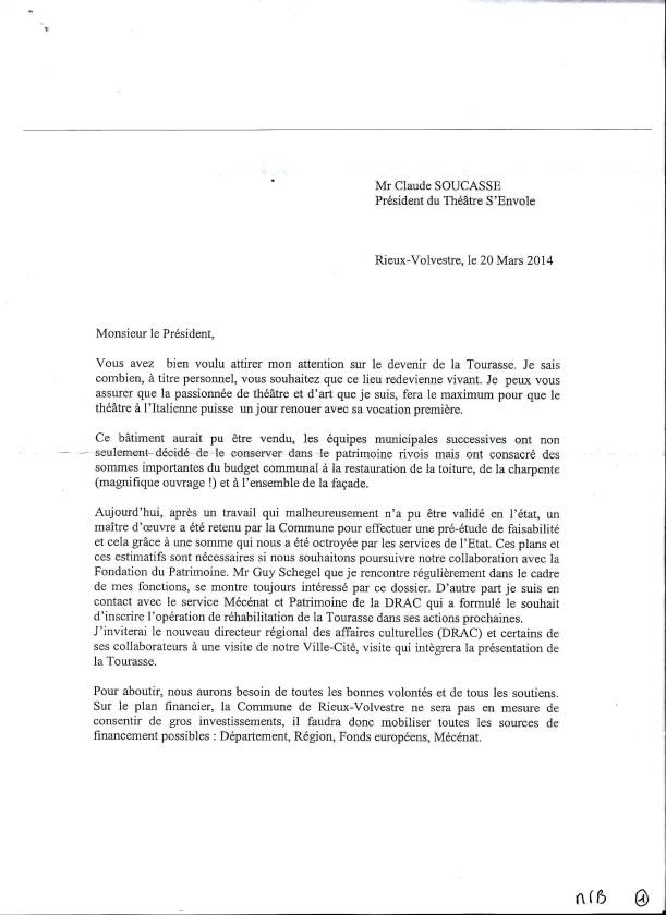 Réponse de Mme le Maire 1-2. 20-03-2014