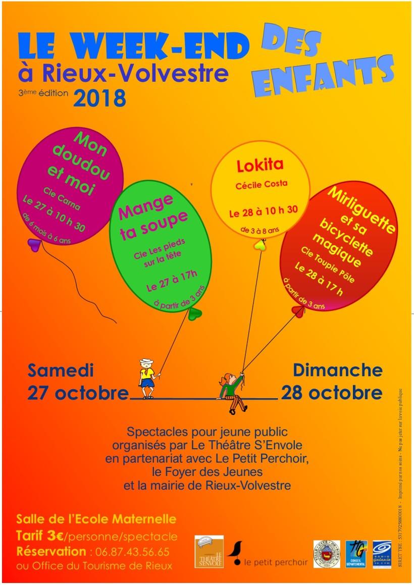 Affiche A4 Le W-E des Enfants 2018